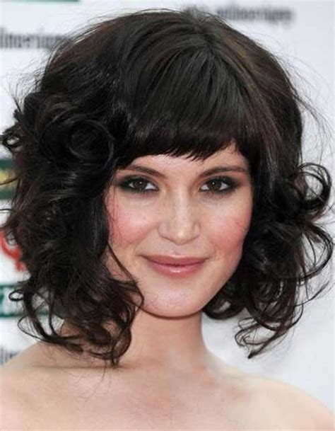 medium hairstyles curly hair with bangs 30 best curly hair with bangs hairstyles haircuts 2016