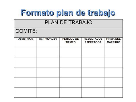 formato del plan anual de actividades 2012 picture plan de trabajo