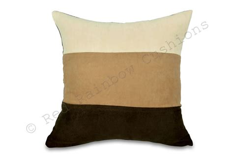 Cushions For Brown by Set Of 4 Brown Latte 18 Faux Suede Cushion