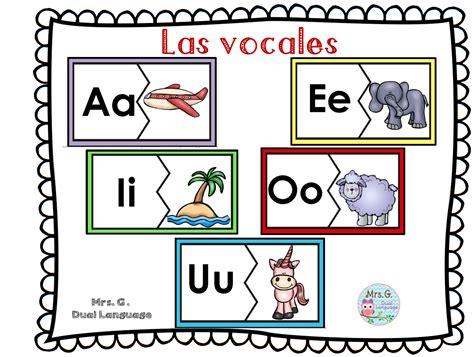 imagenes educativas vocales las vocales spanish vowels center activities