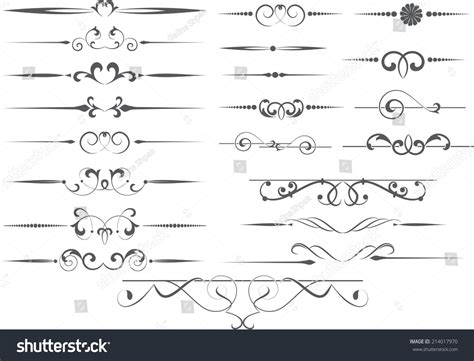 vector decorative design elements page decor vector decorative design elements page decor stock vector