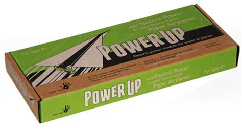 How To Make A Motorized Paper Airplane - power up puts electric motor on paper airplanes slashgear