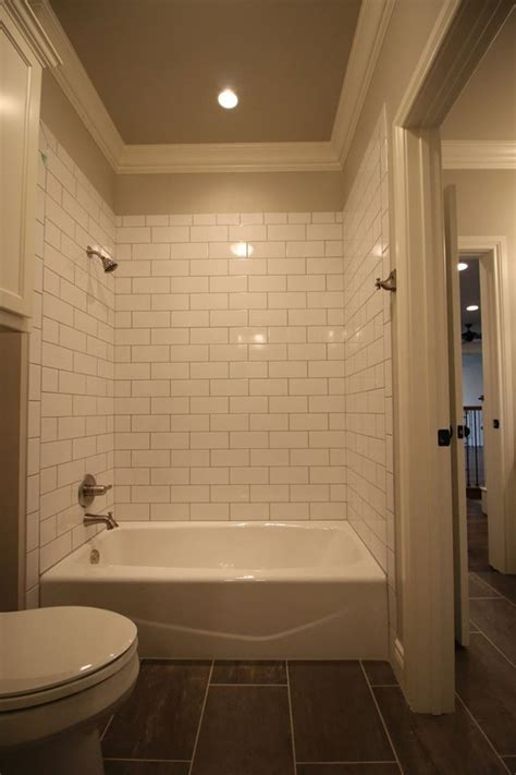part tiled bathroom best white subway tile bathroom ideas on pinterest white