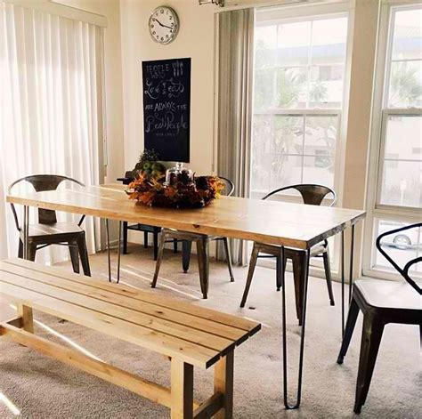 6ft hairpin dining table modern dining tables los