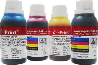Tinta E Print Bulk Ink 200ml Epson tinta e print grosir