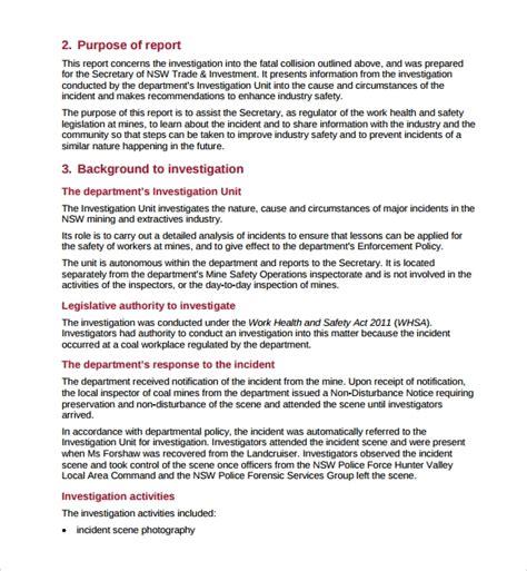 14 Investigation Report Templates Sle Templates Detective Report Template