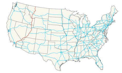 united states map with cities and interstates map of united states with interstates