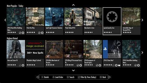 mod game list skyrim ps4 mod list youtube
