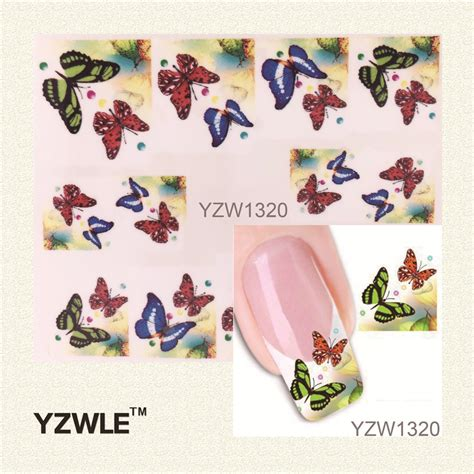 Minnie Nail Water Sticker 1 Sheet Multi Color yzwle 1 sheet water transfer nail sticker decal multi