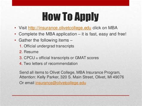 Olivet College Mba by Olivet College Mba In Insurance