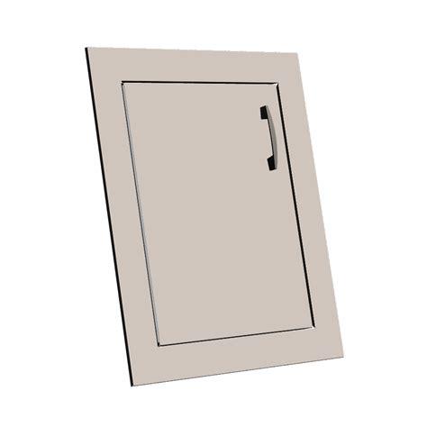 Door Insert by Lazyman Right Stainless Steel Door Insert Front