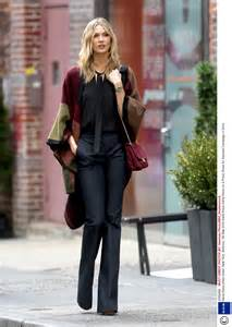 Street style stealer karlie kloss street style fashion red