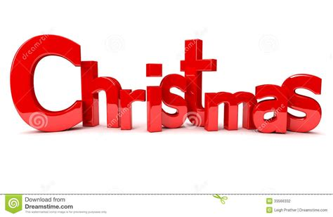 3d text christmas stock photography image 33566332