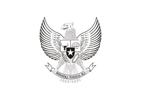 logo garuda pancasila hitam putih vector  logo