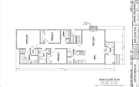 custom bungalow floor plans custom built bungalow 1271 sq ft shergill homes