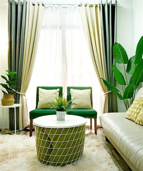 idea deko ruang tamu rumah flat  menenangkan hiasmy