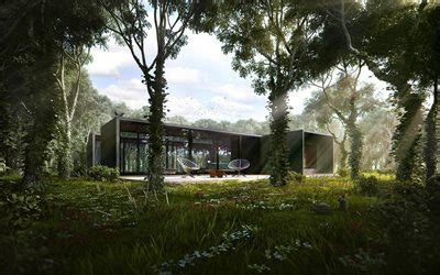 wallpapers house   forest exterior modern