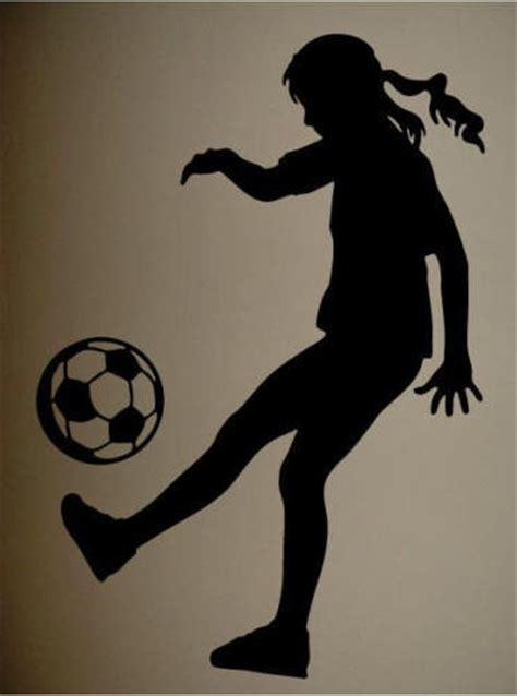 wall decal art sticker quote vinyl soccer silhouette