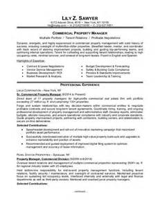 commercial property manager resume property manager resume sle