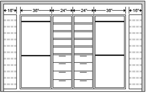 Standard Size Of Closet by Standard Closet Dimension Color Closet System Components