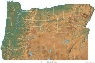 oregon geography map oregon physical map and oregon topographic map