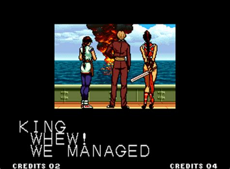 ending for king of fighters '94 team england(neo geo)