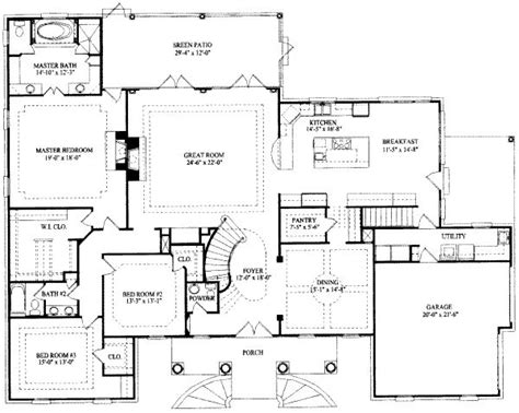 floor plans for a 5 bedroom house 7 bedroom house plans