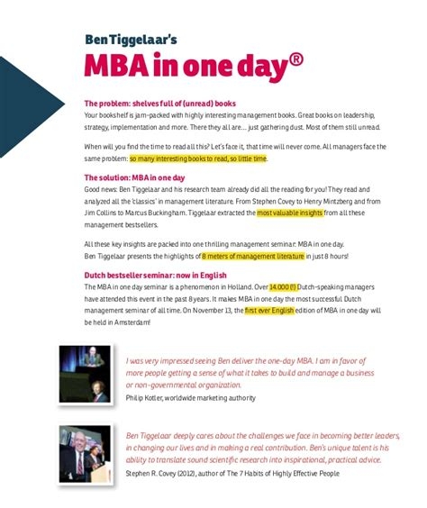 Mba In Strategic Management In Europe by Mba In One Day 11th November 2013