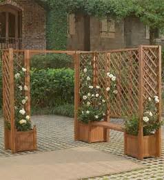 planters benches and trellises outdoor inspiration
