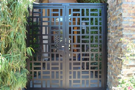 modern house steel gate contemporary metal dual entry gate modern pedestrian walk custom iron garden ebay