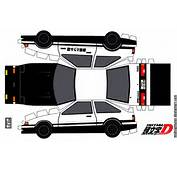 Toyota AE86 Trueno Papercraft Project D By MidnighTuner