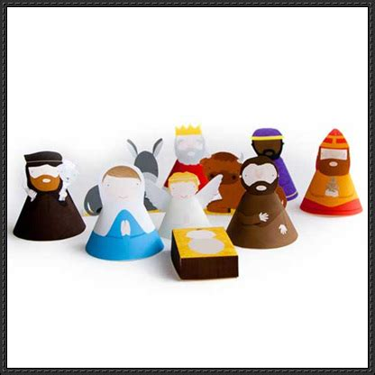 Nativity Paper Craft - nativity papercrafts papercraftsquare