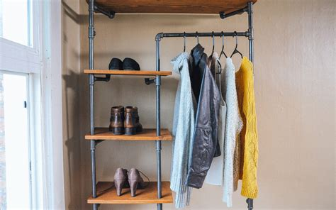 Pipe Closet Diy by Gas Pipe Storage Solution Home Improvement Projects To