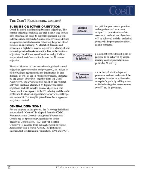 Henley Mba Entry Requirements by Cobit Regulations