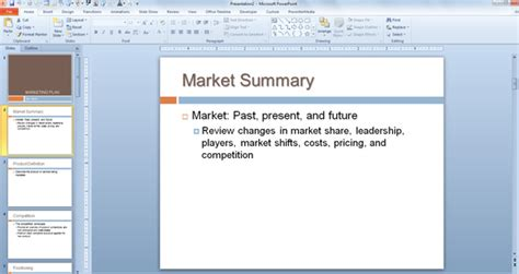 marketing plan template powerpoint presentation timeline