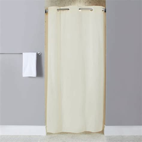 Stall Size Shower Curtains by Hookless Beige Stall Size 10 Vinyl Shower Curtain