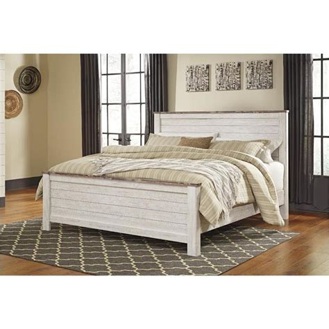 whitewash bedroom set willowton whitewash panel bedroom set b267 54 57 98 ashley