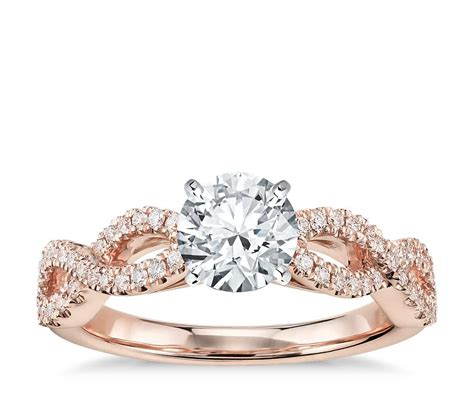 In Engagement Rings by Infinity Twist Micropav 233 Engagement Ring In 14k