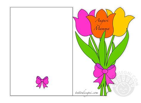 biglietti con fiori biglietto per la festa della mamma con tulipani