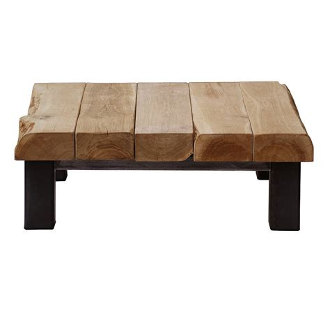 Oak And Iron Large Square Coffee Table By Oak Iron Large Oak Coffee Tables