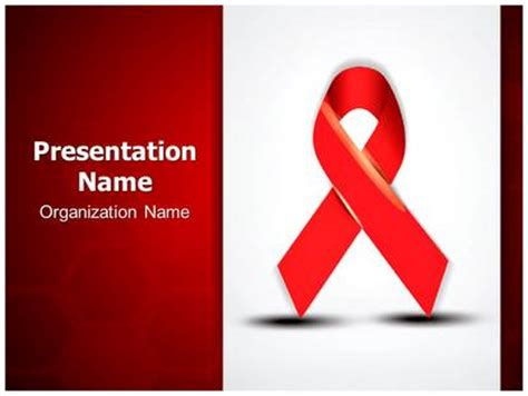 Aids Template aids powerpoint template background subscriptiontemplates