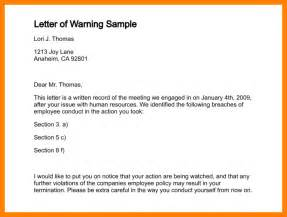 warning letter template for absenteeism 6 warning letter for absenteeism homed