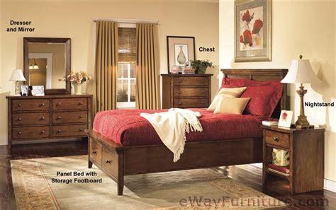 c huntington storage panel bedroom set