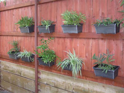 Vertical Garden Diy Home Depot - fence garden how to hang flower pots on a fence