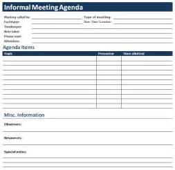 meeting calendar template ms word informal meeting agenda office templates