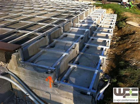 Wpc Dielen Verlegen Auf Beton 4201 by Bilder Wpc Aluminium Alu Unterkonstruktion F 252 R
