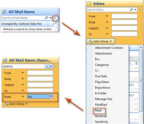 How To Search Unread Emails In Outlook How To Sort Emails By Unread Then Date In Outlook