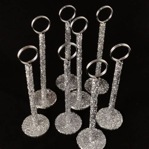table number holders table number holders glitter wedding and table numbers on
