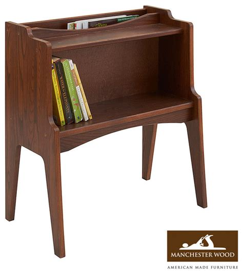 Magazine Rack End Table by Green Mountain Magazine Rack End Table Modern Side