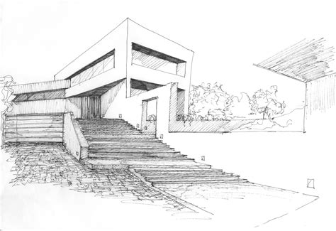 sketch house plans valdemorillo residence modern architecture sketches